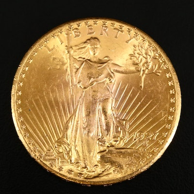 1927 Saint-Gaudens $20 Double Eagle Gold Coin