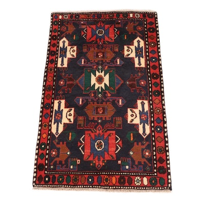 2'6 x 4' Hand-Knotted Persian Nahavand Rug, 1980s
