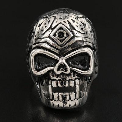 Ornate Skull Ring