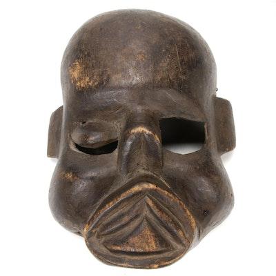 Makonde Style Carved Wood Spirit Mask, 20th Century