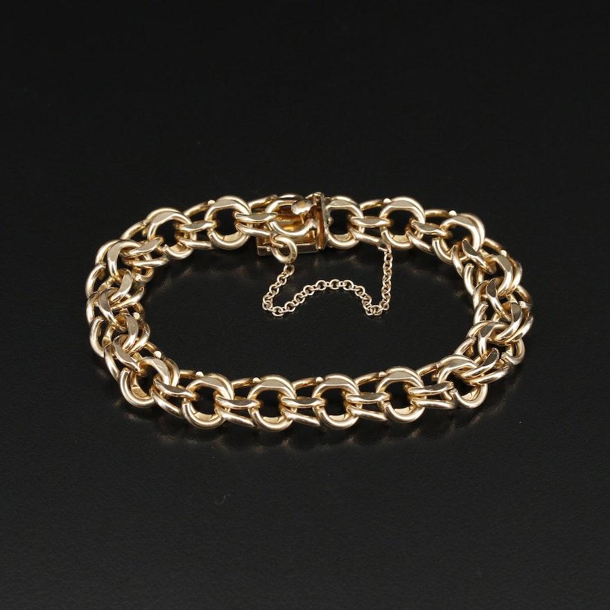 Gold Filled Fancy Link Bracelet