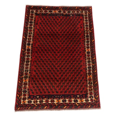 3'3 x 4'11 Hand-Knotted Persian Shiraz Rug, 1980s