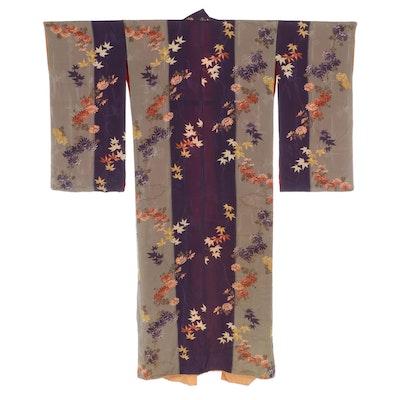 Japanese Silk Crepe 振袖 Furisode Kimono