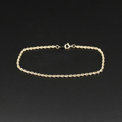 14K French Rope Link Bracelet