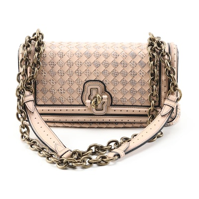 Bottega Veneta Olimpia Knot Flap Bag in Intrecciato Nappa and Snakeskin Leather