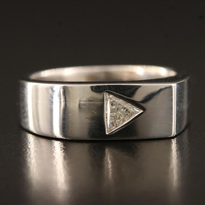 18K Diamond Asymmetrical Band Design
