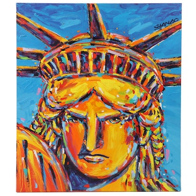 "John Stango Pop Art Acrylic Painting ""Liberty"""