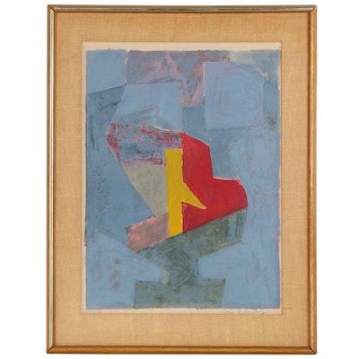 """Serge Poliakoff Lithograph """"Composition Bleue, Jaune et Rouge"""", 1958"""