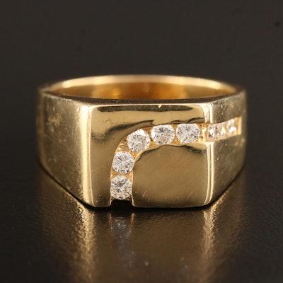 18K Channel Set Diamond Ring