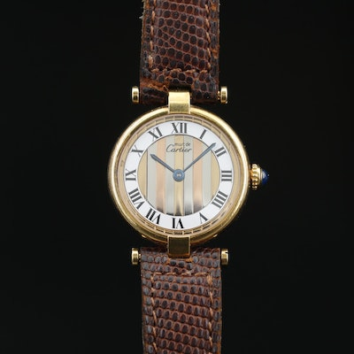 Cartier Must de Cartier Vendome Vermeil Quartz Wristwatch