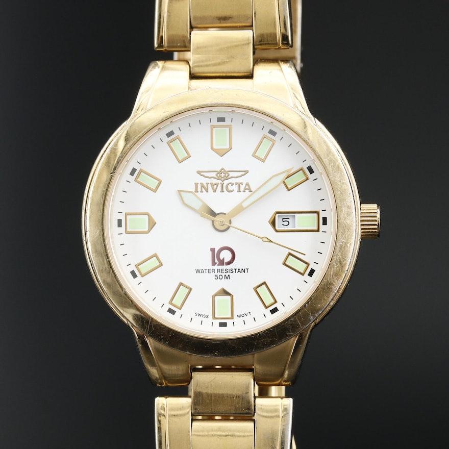 Invicta 10 Collection Cyrus Stainless Steel Quartz Wristwatch