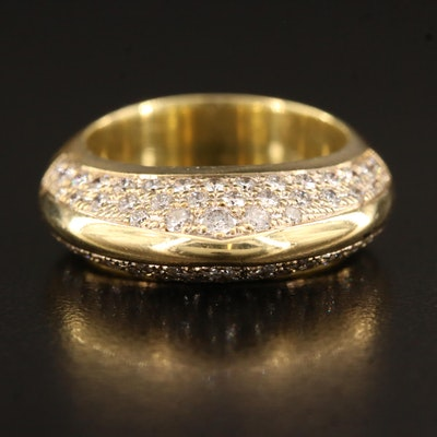 Contemporary 18K 1.49 CTW Diamond Arch Ring
