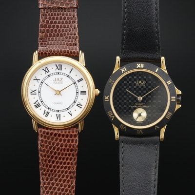 Pair of Jaz Paris Quartz Wristwatches