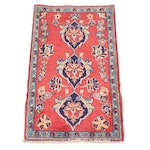 1'10 x 3' Hand-Knotted Persian Isfahan Rug, 1970s