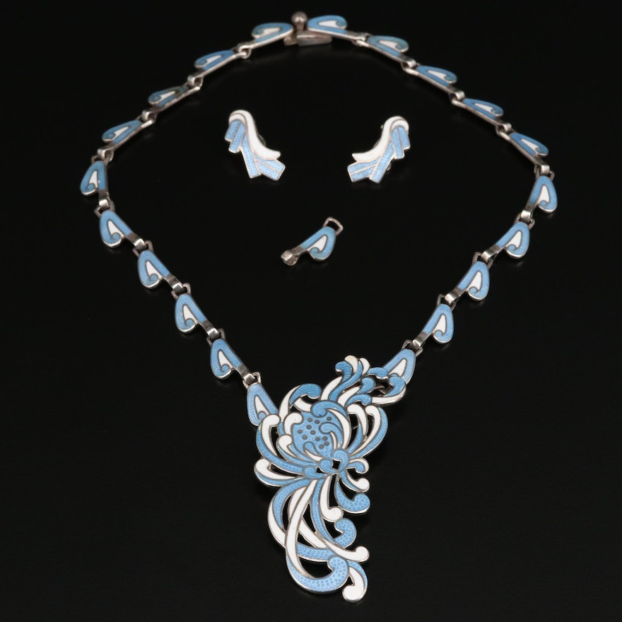 """Margot de Taxco """"Chrysanthemum"""" Convertible Necklace and Earrings"""