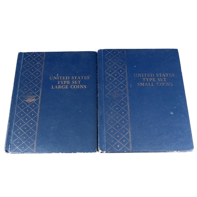 US Type Set for Large and Small Coin in Whitman Coin Binders