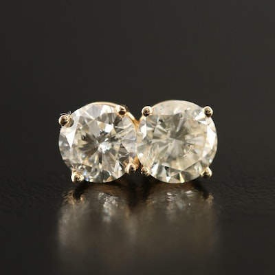 14K 2.02 CTW Diamond Stud Earrings
