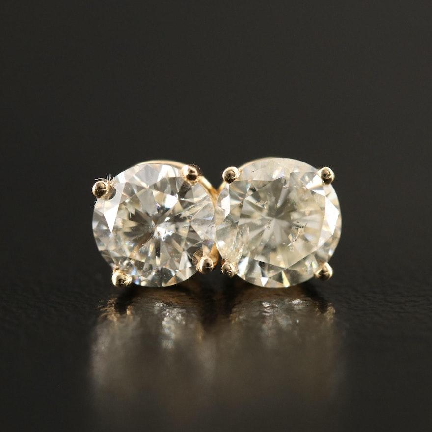 14K 2.02 CTW Diamond Stud Earrings