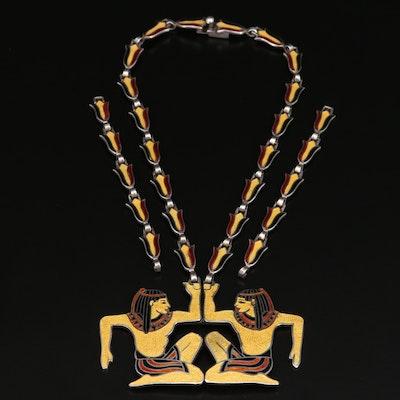 """Margot de Taxco """"Egyptian"""" Converter Pendant Necklace"""
