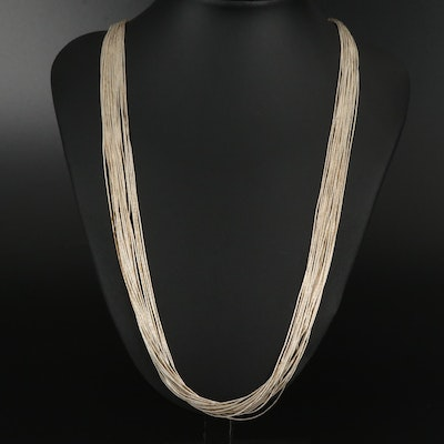 Carolyn Pollack Sterling Twenty Strand Liquid Silver Necklace