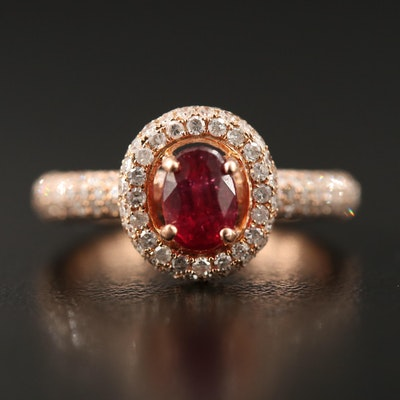 14K Corundum and 1.00 CTW Diamond Ring