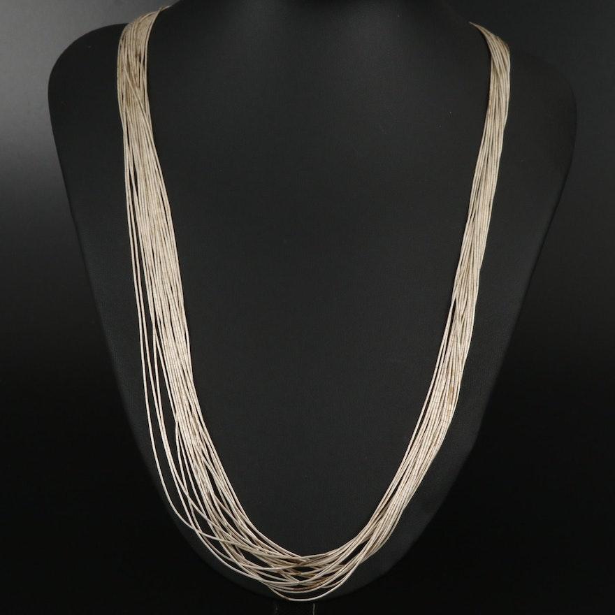 Carolyn Pollack Liquid Silver Multi-Strand Necklace