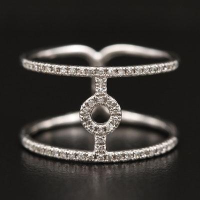 Minimalist 14K Diamond Double Band