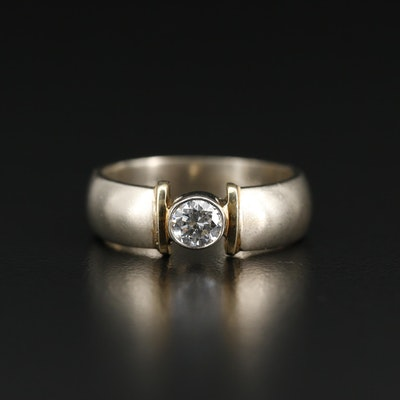 14K 0.40 CT Diamond Solitaire Ring