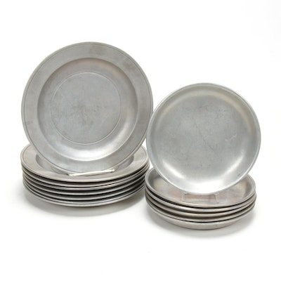 Set of Wilton Pewter Plates, Mid to Late 20th Century