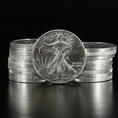 Mint Roll of Twenty 2011 American Silver Eagle Bullion Coins