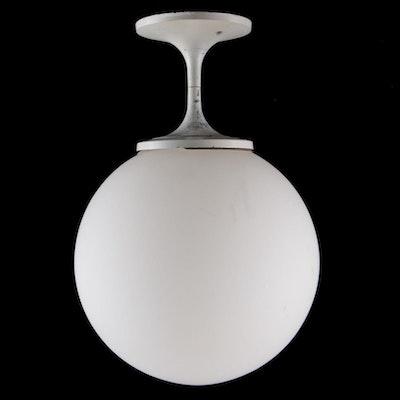 Lightcraft Mid Century Modern White Globe Ceiling Fixture