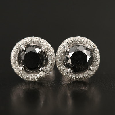 14K 2.79 CTW Diamond Stud Earrings