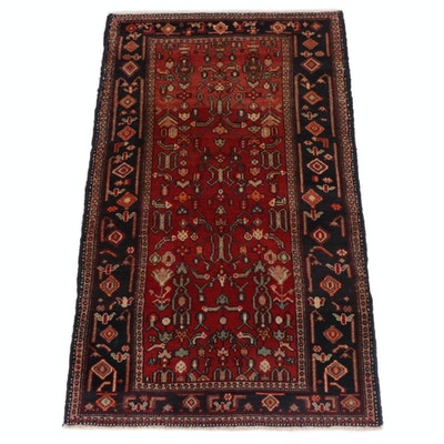 3'3 x 5'6 Hand-Knotted Persian Zanjan Rug, 1960s