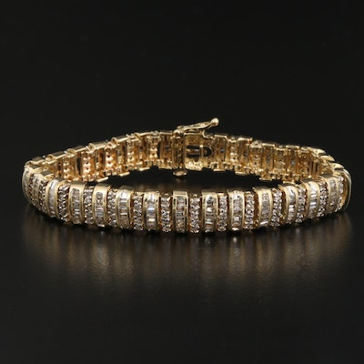 14K 5.28 CTW Diamond Multi-Row Bracelet