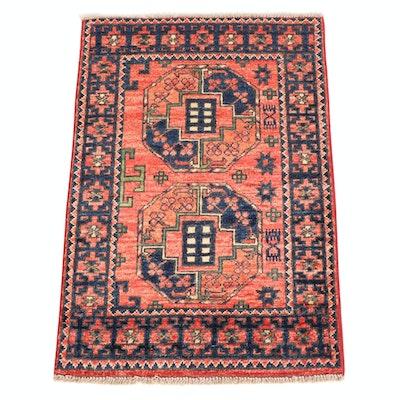 2'1 x 3'1 Hand-Knotted Afghani Turkoman Rug