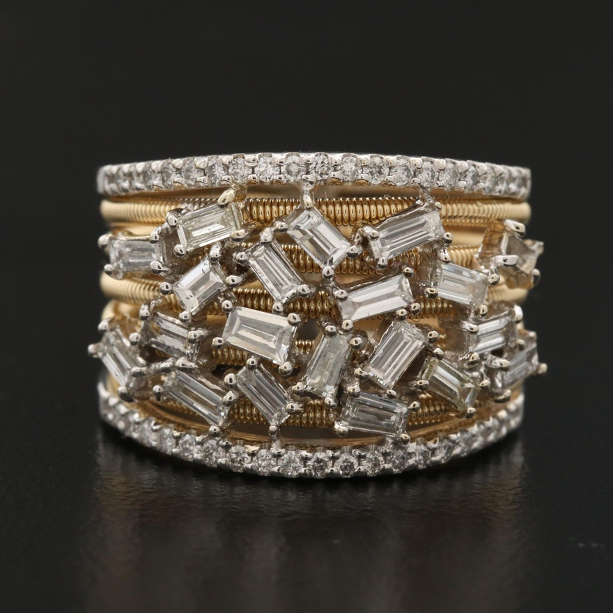 14K 1.08 CTW Diamond Two-Tone Ring