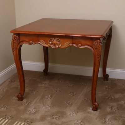 Louis XV Style Parquetry Game Table, 20th Century