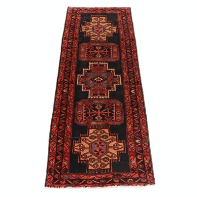 3'9 x 10' Hand-Knotted Northwest Persian Wide Runner Rug, 1950s