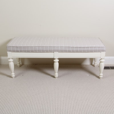French Provincial Style Upholstered Bed Bench