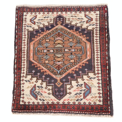 2'1 x 2'7 Hand-Knotted Persian Heriz Rug, 1950s