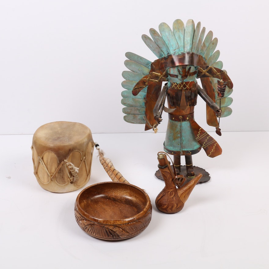 Dale Anderson Copper Sculpture and Other Southwest-Style Folk Art