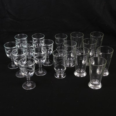 "La Rochère ""Napoleon Bee"" Old Fashioned Glasses with Other Stemware"