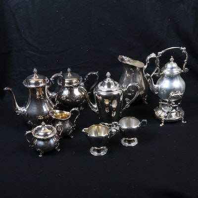 "Silver Plate Tea and Coffee Services Including ""Countess"", 20th Century"