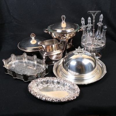 Gorham, Reed & Barton, and Other Silver Plate Serveware, Early to Mid 20th C.