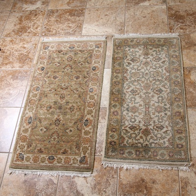 2' x 4'3 Machine Made Indo-Persian Accent Rugs, Pair