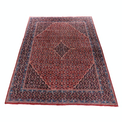 9'8 x 13'3 Hand-Knotted Persian Mahal Room-Size Rug, circa 1950s