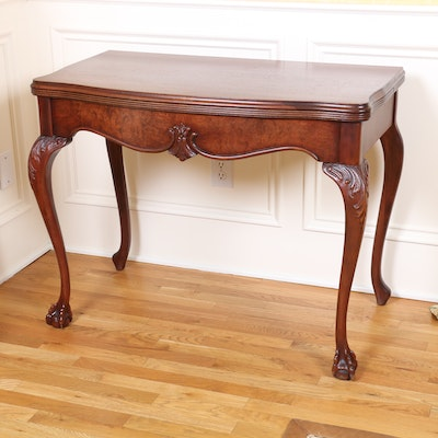 Chippendale Style Mahogany Games Table, Early 20th Century