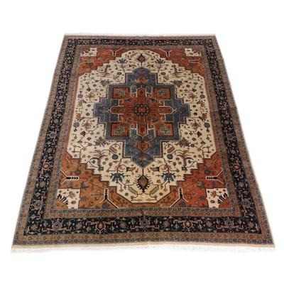 10'5 x 14'3 Hand-Knotted Indo-Persian Heriz Serapi Room-Size Rug