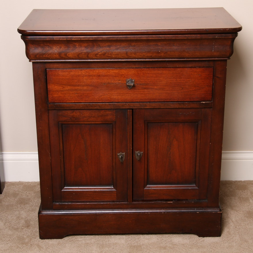 National Mt. Airy Louis Philippe Style Cherry Nightstand, 20th Century