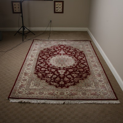 6'2 x 9'4 Hand-Knotted Chinese Areas Rug